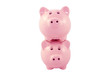 Stacked Piggy Banks Series - Pink
