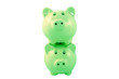 Stacked Piggy Bank Series - Green