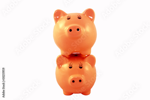 Stacked Piggy Bank Series - Orange