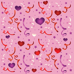 seamless doodle love pattern - vector
