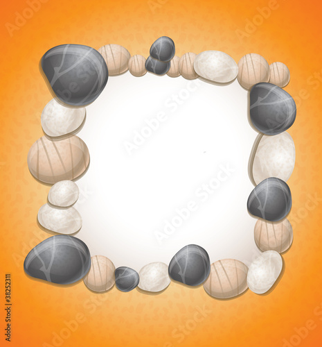 framу with stones - vector