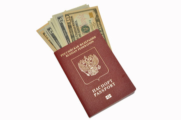 Dollars in the passport