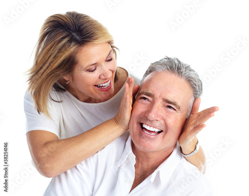 Happy elderly couple.