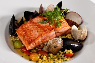 Prepared Salmon Seafood Dinner