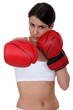 Brunette boxing