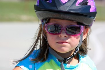 Girl in Bike Helmet