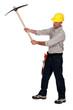 Man using pick-axe
