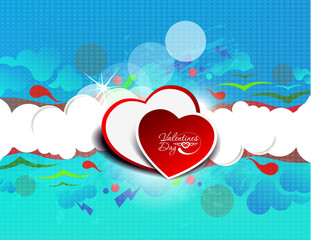 valentine hearts design
