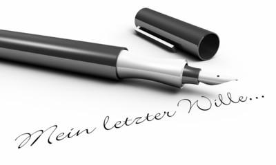 Mein letzter Wille... - Stift Konzept