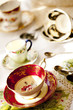 Antique porcelain tea cups and saucer