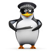 3d Penguin is a proud policeman