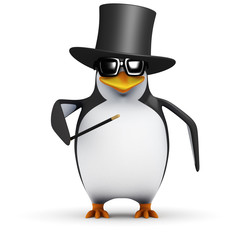 3d Penguin likes to perform magic for his friends