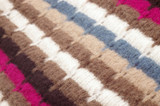 Closeup of multicolored woolen texture