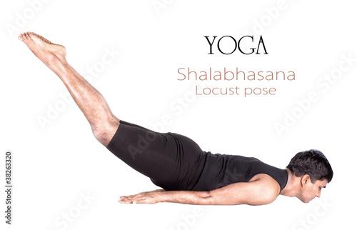 Yoga shalabhasana locust pose