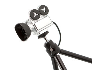 Small Video Camera On Tripod