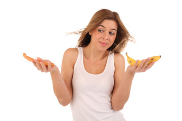 Junge Frau macht Diät