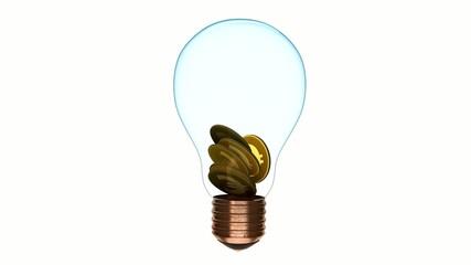 green energy energia verde risparmio energetico lampadina