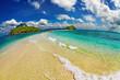 Tropical beach, Andaman Sea, Thailand, fisheye shot