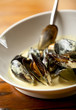 Delicious West Coast Black Mussels in cheese sauce