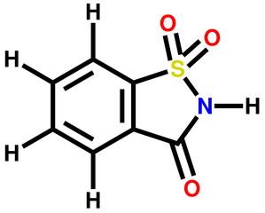 Saccharin structural formula