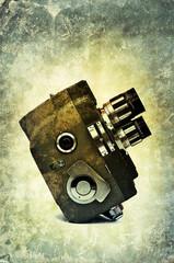 retro film print