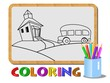 An illustration of kids coloring concept