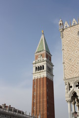 Tower of San Marco cathedral (Venice Italy)