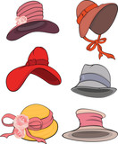 The complete set of female hats