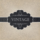 Fototapety Retro styled card with old-fashioned ornament background. Vector