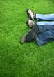 Parc, détente, loisirs, couple, sieste, nature, jambes