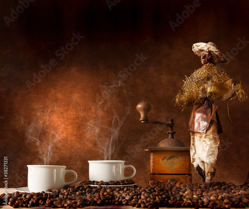 Fototapeta Rogalik - Kaptur - Kawa / Herbata / Czekolada