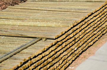 Stoccaggio legnami da costruzione