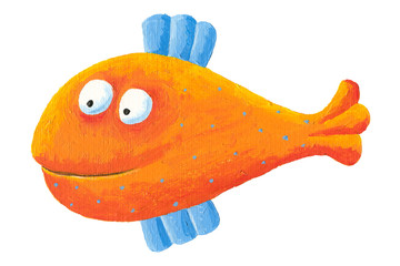 Funny orange fish