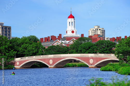 Harvard campus over Charles River
