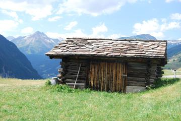 Holzhütte am Großglockner