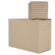 two corrugated cardboard packages