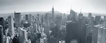 Panoramę Nowego Jorku w czerni i bieli