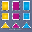 colourful blank vector stamp set