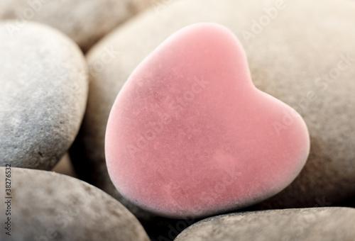 pierre galet zen coeur rose