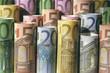 Euro, Banknoten, Geld, Währung, Geldscheine, Rollen