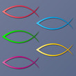 ICHTHYS colourful vector fish