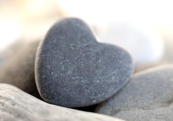 pierre en forme de coeur naturel