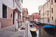Typical street of Venice, Italy.
