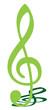 Grüner Notenschlüssel
