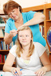 Fixing Daughter's Hair