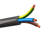 3d illustration of electrical cable wires