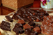 Valentine candy: dark chocolate and milk chocolate