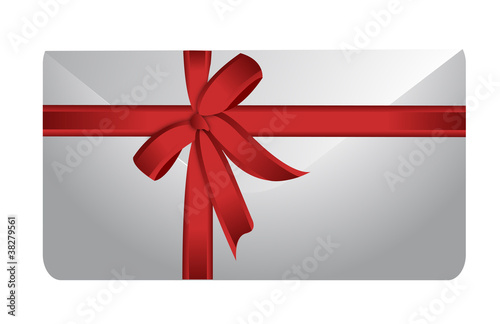envelope and ribbon illustration design on white background