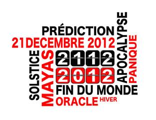Carte 21 décembre 2012, fin du monde