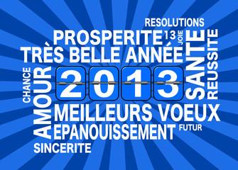 2013, carte de voeux